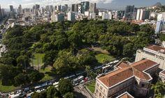 Imagem aérea atual do Campo de Santana, que pode ser retombado pelo Iphan no próximo dia 11 de junho