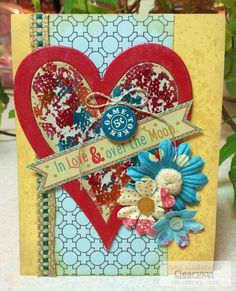 Be inspired by this card sketch and see how to use foils and dry adhesive to create a shiny pattern on raw chipboard