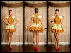Short tutu dress by ZNAKCanada on Etsy ~African fashion, Ankara, kitenge, African women dresses, African prints, African men's fashion, Nigerian style, Ghanaian fashion ~DKK
