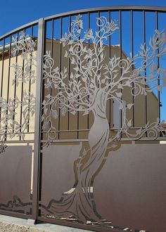 Home Decor The Finishing Touch Tor Design, Gate Design, Metal Gates, Wrought Iron Gates, Front Gates, Entrance Gates, Metal Tree Wall Art, Metal Art, Deco Nature