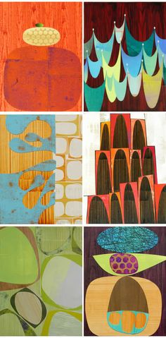 Rex Ray, artist http://www.rexray.com/ #collage  #patterns