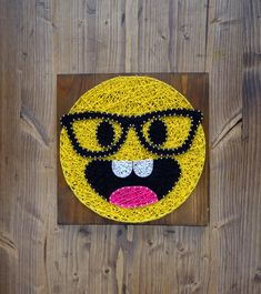 Smarty Pants Emoji Wall decoration yellow and fun made by GoodLights