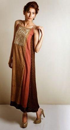 Kaam Asia Women's Silk Kurtas Collection-14 | Semi Formal Silk Kurtas Designs - Clothing9 | Fashion & Lifestyle Blog: