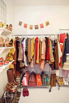 Someday I'll have a spare room for my closet just like this lady. Like the showroom/boutique thing she's got going on...