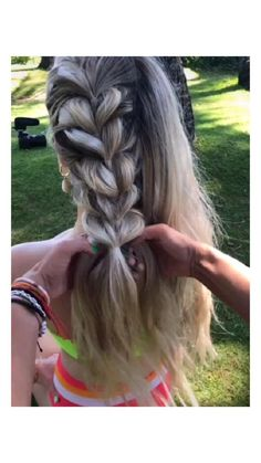 Easy Hairstyles For Long Hair, Braids For Long Hair, Cute Hairstyles, Box Braids, Protective Hairstyles, Summer Hairstyles, Hairstyles Videos, Braids For The Beach, Cute Volleyball Hairstyles