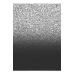 Modern faux silver glitter ombre grey black block poster - modern gifts cyo gift ideas personalize