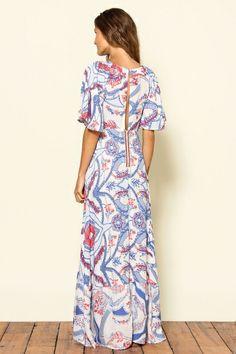 Farm - vestido longo floribela