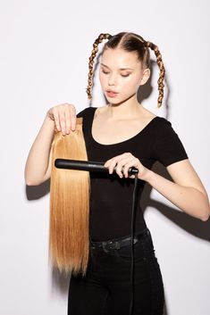 This tutorial will show you a step-by-step guide on how to create two hairstyles with GHD Gold Styler: GHD Gold Wave and Double Pony. Ghd, Trendy Hairstyles, Pony, How To Find Out, Waves, Crown, Hair Styles, Fashion, The Originals