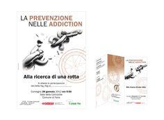 """Per l'Ambito sociale 6 Fano abbiamo realizzato depliant, locandine A3 e attestati di partecipazione per il convegno """"La prevenzione nelle addiction – Alla ricerca di una rotta""""  #comunicazione #prevenzione #Fano"""