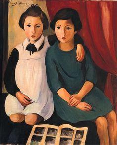 Carine Bouvard   Sarah Afonso, meninas, Museu do Chiado