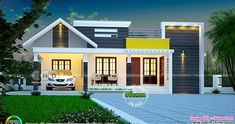 1459 square feet, 3 bedroom cute budget friendly house plan by Dream Form from Kerala.