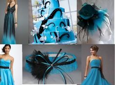 Don't know if I should do a turquoise and black wedding or...