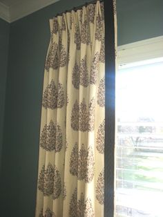 John Robshaw for Duralee fabric with Samuelson Trim. Fabulous