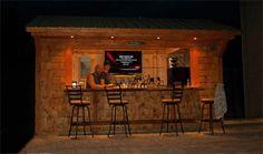Man Cave Tiki Bar : Tiki bar ideas outside outdoor bars