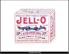 Jell-O Packaging, 1900 Typography Logo, Lettering, Packaging Design, Branding Design, Famous Desserts, Victorian Design, Victorian Era, Print Design, Graphic Design