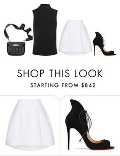 """Untitled #33"" by minimalsimplicity ❤ liked on Polyvore featuring ADAM, Christian Louboutin and Theory"