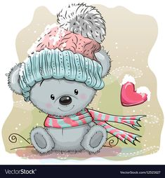 Find Cute Cartoon Teddy Bear Knitted Cap stock images in HD and millions of other royalty-free stock photos, illustrations and vectors in the Shutterstock collection. Thousands of new, high-quality pictures added every day. Tatty Teddy, Teddy Bear, Baby Shower Greetings, Baby Shower Greeting Cards, Cute Cartoon Animals, Bear Cartoon, Cute Animals, Illustration Mignonne, Cute Illustration