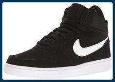 Nike Unisex-Erwachsene Wmns Court Borough Mid Basketballschuhe, Blanco (Blanco (Black/White)), 44.5 EU - Sportschuhe für frauen (*Partner-Link)