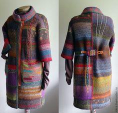 Купить Пальто - абстрактный, пальто, пальто женское, яркое пальто, модное…
