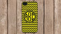 Personalized Monogram Chevron Black Yellow Pattern for iPhone 4/4s/5/5s/5c Samsung Galaxy S3/S4/S5/Note 2/Note 3 by TopCraftCase, $6.99