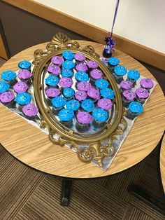 Mirror on the wall cupcakes. Descendants theme.