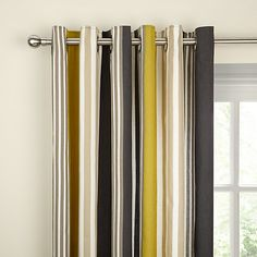 Buy Scion Lace Slate Lined Eyelet Curtains, Grey/Multi, Pair, W165 x Drop228cm Online at johnlewis.com