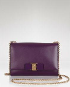 Ferragamo Purple Miss Vara Bow Mini Crossbody Bag