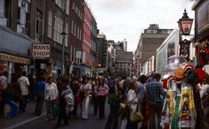 Carnaby Street Central London England in 1973
