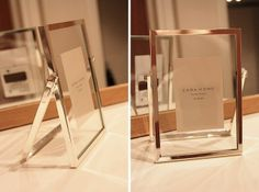 see-through photo frame by Zara home