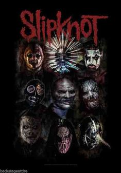 Slipknot Oxidized Nine Faces Paul Gray Official Cloth Textile Fabric Poster Flag Tapestry Wall Banne Corey Taylor, Slipknot Quotes, Slipknot Band, Slipknot Logo, Paul Gray, James Hetfield, Woodstock, Digital Foto, Flag Face