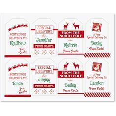 """""""From Santa"""" Gift Tags"""
