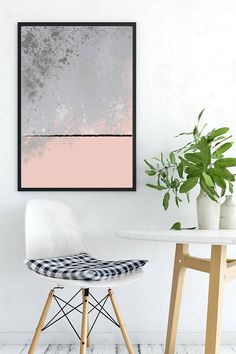 Abstract Painting Digital Painting Scandinavian Print