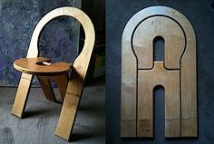 Wood chair folds flat.... so with some adjusting... you can make it a lil more colorful and stylish... not so brown. hahaha