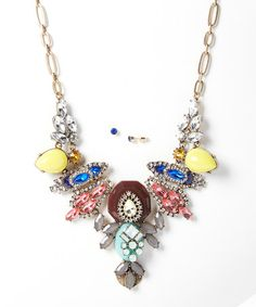 Look at this #zulilyfind! Gold Stone Bib Necklace & Earring Set by Sorta Southern Boutique #zulilyfinds