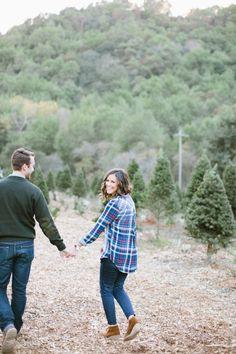 Christmas tree farm anniversary session: http://www.stylemepretty.com/2015/12/24/marriage-matters-christmas-tree-farm-anniversary-session/ | Photography: Sorella Muse - http://sorella-muse.com/