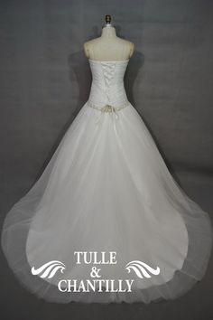 Imoda-Classic Dropped Waistline Beaded Sweetheart Bridal Dress