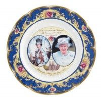 Commemorative Crown China Plates 10.5""