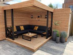 House Design, Garden Sitting Areas, Home, Backyard Decor, Patio Design, Pergola Plans, Back Garden Design