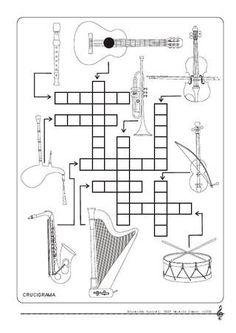 Crucigrama con instrumentos musicales. Music Math, Music Classroom, Teaching Music, Art Music, Music Theory Worksheets, Music Crafts, Music School, Music Activities, Music Humor