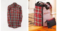 Nähanleitung für eine Einkaufstasche aus ausgedienten Hemden von Siegrid Reinelt  ######Upcycling in seiner schönsten Form!######  Hemden sind oft nur an Ärmeln und Kragen abgenutzt. Der restliche Stoff ist meist noch einwandfrei. Mit dieser Nähanleitung verhelfen Sie ausgemusterte Karo-Hemden zu einem neuen Dasein als Einkaufstasche.   Man braucht vier Hemden mit Brusttasche, 45 cm Jeansstoff oder Jeanshosenreste, 5 Schrägbandstreifen, 2 beziehbare Knöpfe oder passende Zierknöpfe.   Man…