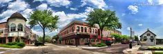 Painting - Wheaton Front Street Panorama by Christopher Arndt , Illinois, Westerns, Sweet Home, Chicago, Mansions, Architecture, Street, House Styles, Places