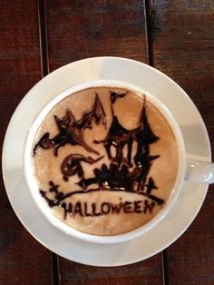 Halloween Latte Art