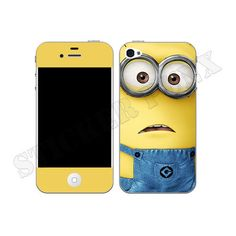 Despicable Me Minion iPhone 4 & 4S Vinyl Skin Cover ($14) found on Polyvore