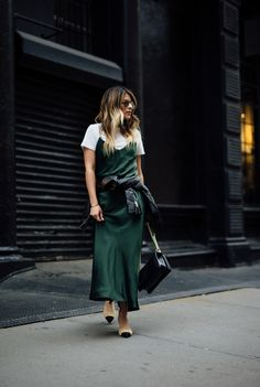 How to style a slip dress, Chanel mules, Pam Hetlinger, Leather Jacket, Spring Style | The Girl From Panama