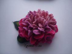 Felt flower brooch-Felt flower pin -felted wool flowers-Felted brooch-wool flowers-Felted gift women- pink peony-Gifts ideas under 25