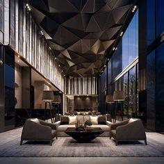 New modern hotel lobby seating 27 ideas Luxury Home Decor, Luxury Interior Design, Interior Architecture, Interior And Exterior, Luxury Homes, Interior Decorating, Room Interior, Decorating Ideas, Black Architecture