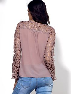 Specification: Product Details Material Polyester Fabric Type Chiffon Clothing Length Regular Sleeve Length Full Collar Jewel Neck Pattern Type Patchwork Embellishment Lace Style Fashion Weight 0.180kg Package Contents 1 x Blouse Size Chart Size Conversion Chart Inches Centimeters Our Size Bust Length Shoulder Width Sleeve Length S 34.65 23.62 14.96 22.44 M 36.61 23.62 15.35 22.83 L 38.58 24.02 15.75 23.23 XL 40.55 24.41 16.14 23.62 2XL 42.52 24.80 16.54 24.02 3XL 45.28 24.80 16.93 24.41