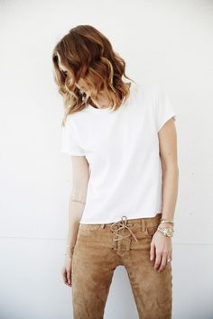 #ANINEBING daily look | @aninebing Suede Pants, Spring Fashion Trends, Daily Look, Fall Wardrobe, Pants Outfit, My Style, Hair Style, Style Inspiration, Womens Fashion