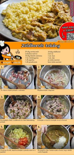 Hungarian Cuisine, Hungarian Recipes, Good Foods To Eat, Food To Make, Breakfast Time, Breakfast Recipes, Meat Recipes, Cooking Recipes, Easy Cooking