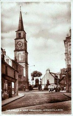 Town Cross from East High Street, Kirkintilloch Old Pictures, Big Ben, Street, Building, Travel, Viajes, Buildings, Roads, Destinations